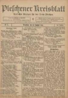 Pleschener Kreisblatt: Amtlicher Anzeiger für den Kreis Pleschen 1906.01.10 Jg.54 Nr3