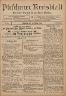 Pleschener Kreisblatt: Amtlicher Anzeiger für den Kreis Pleschen 1906.01.20 Jg.54 Nr6
