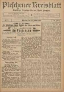 Pleschener Kreisblatt: Amtlicher Anzeiger für den Kreis Pleschen 1906.01.24 Jg.54 Nr7