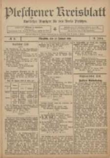 Pleschener Kreisblatt: Amtlicher Anzeiger für den Kreis Pleschen 1906.01.27 Jg.54 Nr8
