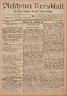 Pleschener Kreisblatt: Amtlicher Anzeiger für den Kreis Pleschen 1906.02.28 Jg.54 Nr17