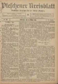 Pleschener Kreisblatt: Amtlicher Anzeiger für den Kreis Pleschen 1906.03.10 Jg.54 Nr20