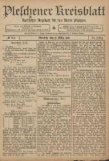 Pleschener Kreisblatt: Amtlicher Anzeiger für den Kreis Pleschen 1906.03.17 Jg.54 Nr22