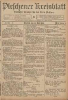 Pleschener Kreisblatt: Amtlicher Anzeiger für den Kreis Pleschen 1906.03.25 Jg.54 Nr25
