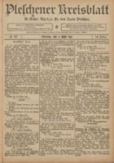 Pleschener Kreisblatt: Amtlicher Anzeiger für den Kreis Pleschen 1906.04.04 Jg.54 Nr27