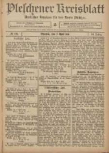 Pleschener Kreisblatt: Amtlicher Anzeiger für den Kreis Pleschen 1906.04.07 Jg.54 Nr28