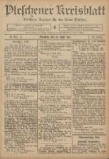 Pleschener Kreisblatt: Amtlicher Anzeiger für den Kreis Pleschen 1906.04.25 Jg.54 Nr33