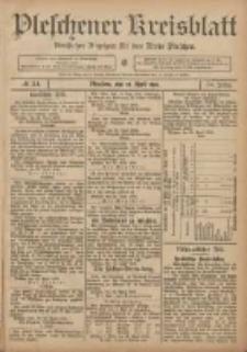 Pleschener Kreisblatt: Amtlicher Anzeiger für den Kreis Pleschen 1906.04.28 Jg.54 Nr34