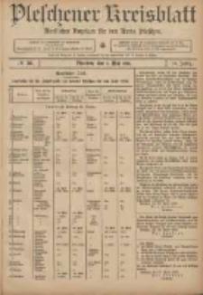 Pleschener Kreisblatt: Amtlicher Anzeiger für den Kreis Pleschen 1906.05.02 Jg.54 Nr35
