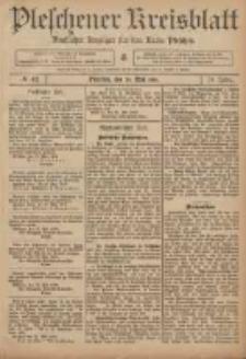 Pleschener Kreisblatt: Amtlicher Anzeiger für den Kreis Pleschen 1906.05.26 Jg.54 Nr42
