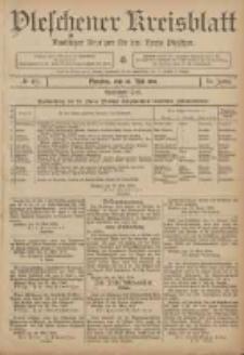Pleschener Kreisblatt: Amtlicher Anzeiger für den Kreis Pleschen 1906.05.30 Jg.54 Nr43