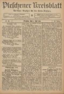 Pleschener Kreisblatt: Amtlicher Anzeiger für den Kreis Pleschen 1906.06.06 Jg.54 Nr45