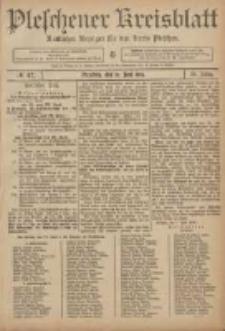 Pleschener Kreisblatt: Amtlicher Anzeiger für den Kreis Pleschen 1906.06.13 Jg.54 Nr47