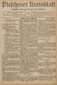 Pleschener Kreisblatt: Amtlicher Anzeiger für den Kreis Pleschen 1906.06.16 Jg.54 Nr48