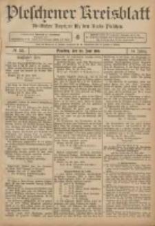 Pleschener Kreisblatt: Amtlicher Anzeiger für den Kreis Pleschen 1906.06.30 Jg.54 Nr52