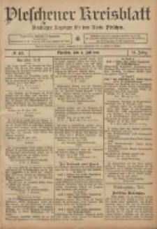 Pleschener Kreisblatt: Amtlicher Anzeiger für den Kreis Pleschen 1906.07.04 Jg.54 Nr53