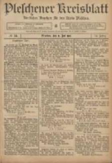 Pleschener Kreisblatt: Amtlicher Anzeiger für den Kreis Pleschen 1906.07.11 Jg.54 Nr55