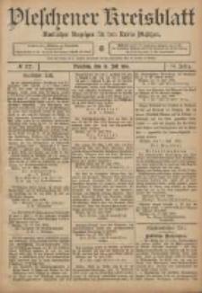 Pleschener Kreisblatt: Amtlicher Anzeiger für den Kreis Pleschen 1906.07.18 Jg.54 Nr57
