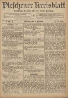 Pleschener Kreisblatt: Amtlicher Anzeiger für den Kreis Pleschen 1906.07.21 Jg.54 Nr58