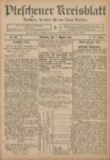 Pleschener Kreisblatt: Amtlicher Anzeiger für den Kreis Pleschen 1906.08.01 Jg.54 Nr61
