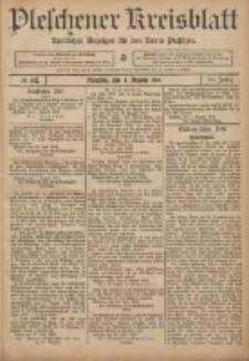 Pleschener Kreisblatt: Amtlicher Anzeiger für den Kreis Pleschen 1906.08.04 Jg.54 Nr62