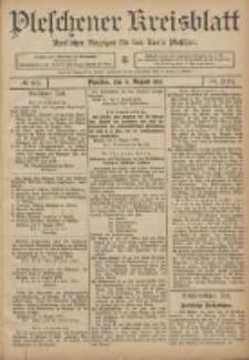 Pleschener Kreisblatt: Amtlicher Anzeiger für den Kreis Pleschen 1906.08.08 Jg.54 Nr63