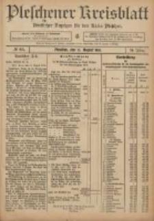 Pleschener Kreisblatt: Amtlicher Anzeiger für den Kreis Pleschen 1906.08.15 Jg.54 Nr65