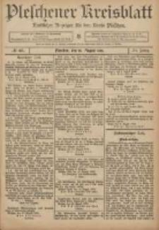 Pleschener Kreisblatt: Amtlicher Anzeiger für den Kreis Pleschen 1906.08.16 Jg.54 Nr66