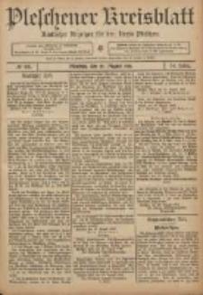 Pleschener Kreisblatt: Amtlicher Anzeiger für den Kreis Pleschen 1906.08.25 Jg.54 Nr68