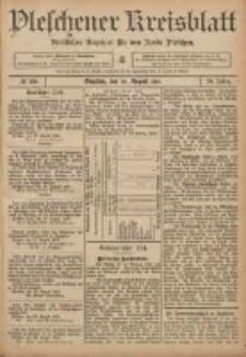 Pleschener Kreisblatt: Amtlicher Anzeiger für den Kreis Pleschen 1906.08.29 Jg.54 Nr69