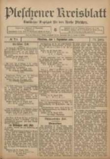 Pleschener Kreisblatt: Amtlicher Anzeiger für den Kreis Pleschen 1906.09.01 Jg.54 Nr70