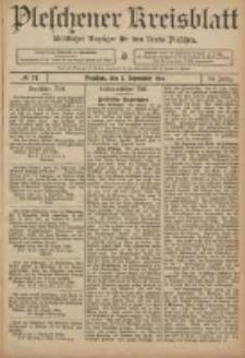 Pleschener Kreisblatt: Amtlicher Anzeiger für den Kreis Pleschen 1906.09.05 Jg.54 Nr71