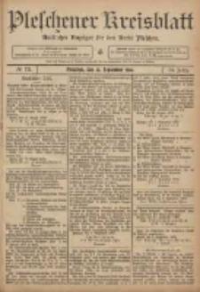 Pleschener Kreisblatt: Amtlicher Anzeiger für den Kreis Pleschen 1906.09.12 Jg.54 Nr73