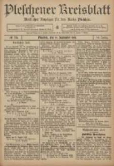 Pleschener Kreisblatt: Amtlicher Anzeiger für den Kreis Pleschen 1906.09.19 Jg.54 Nr75