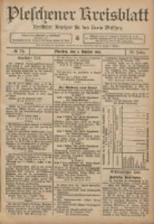 Pleschener Kreisblatt: Amtlicher Anzeiger für den Kreis Pleschen 1906.10.03 Jg.54 Nr79