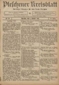 Pleschener Kreisblatt: Amtlicher Anzeiger für den Kreis Pleschen 1906.10.06 Jg.54 Nr80