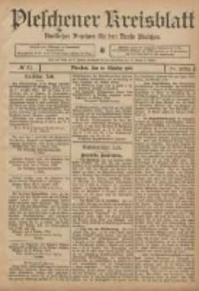Pleschener Kreisblatt: Amtlicher Anzeiger für den Kreis Pleschen 1906.10.10 Jg.54 Nr81