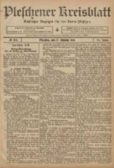 Pleschener Kreisblatt: Amtlicher Anzeiger für den Kreis Pleschen 1906.10.17 Jg.54 Nr83
