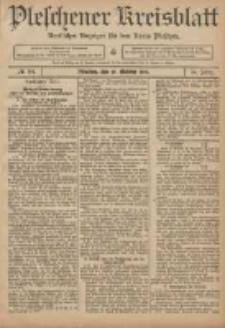Pleschener Kreisblatt: Amtlicher Anzeiger für den Kreis Pleschen 1906.10.20 Jg.54 Nr84