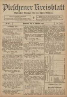 Pleschener Kreisblatt: Amtlicher Anzeiger für den Kreis Pleschen 1906.10.31 Jg.54 Nr87