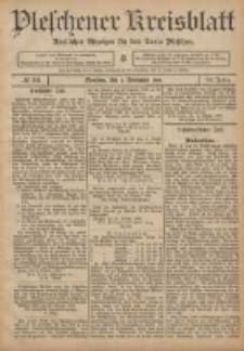 Pleschener Kreisblatt: Amtlicher Anzeiger für den Kreis Pleschen 1906.11.03 Jg.54 Nr88