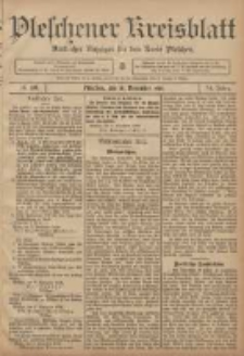 Pleschener Kreisblatt: Amtlicher Anzeiger für den Kreis Pleschen 1906.11.10 Jg.54 Nr90
