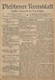 Pleschener Kreisblatt: Amtlicher Anzeiger für den Kreis Pleschen 1906.11.14 Jg.54 Nr91