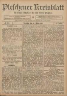 Pleschener Kreisblatt: Amtlicher Anzeiger für den Kreis Pleschen 1907.03.27 Jg.55 Nr25