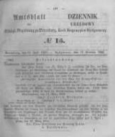 Amtsblatt der Königlichen Preussischen Regierung zu Bromberg. 1856.04.11 No.15