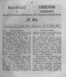 Amtsblatt der Königlichen Preussischen Regierung zu Bromberg. 1856.08.29 No.35