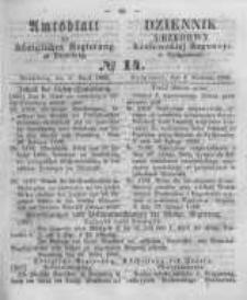 Amtsblatt der Königlichen Preussischen Regierung zu Bromberg. 1860.04.06 No.14