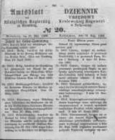 Amtsblatt der Königlichen Preussischen Regierung zu Bromberg. 1860.05.18 No.20