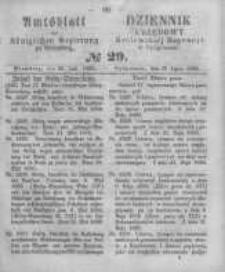 Amtsblatt der Königlichen Preussischen Regierung zu Bromberg. 1860.07.20 No.29