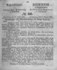 Amtsblatt der Königlichen Preussischen Regierung zu Bromberg. 1860.08.17 No.33